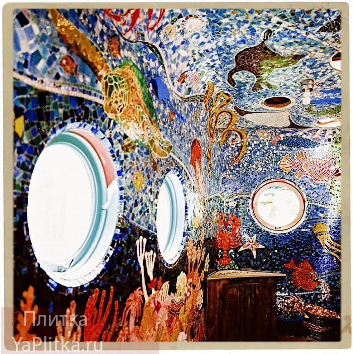 дизайн ванных комнат мозаичная плитка
