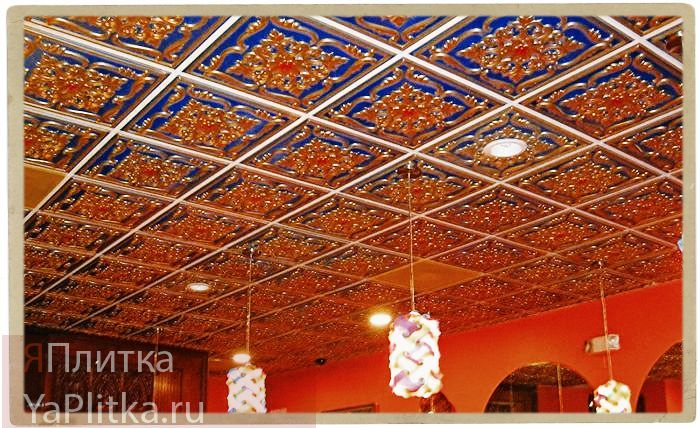 плитка на потолок из пенопласта фото