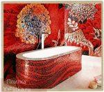 ванна с мозаичной плиткой фото дизайн