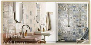 плитка для ванной в стиле кантри