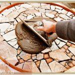 как затирать мозаику из камня