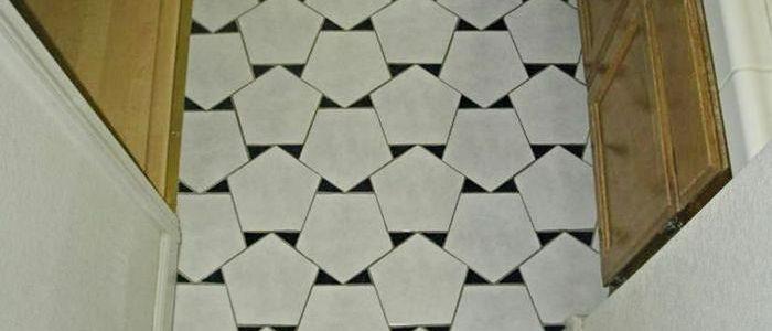 плитка на пол со вставками