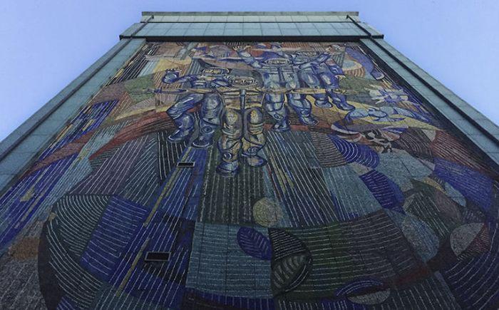 мозаика на фасадах зданий